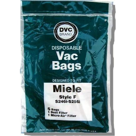 Package of 5 Replacement Miele Style F Bags