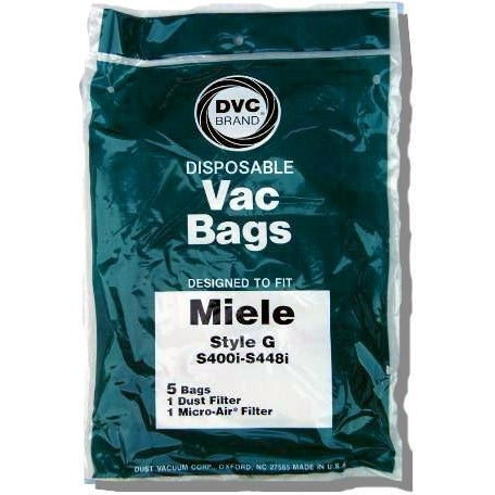 Package of 5 Replacement Miele Style G Bags