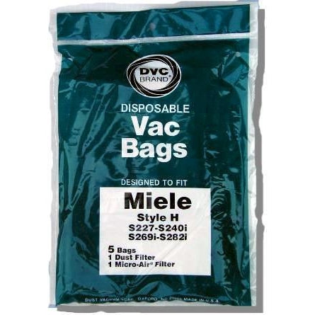Package of 5 Replacement Miele Style H Bags