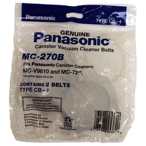 Genuine Panasonic Canister Vacuum Cleaner Belts MC-270B, Type CB-4