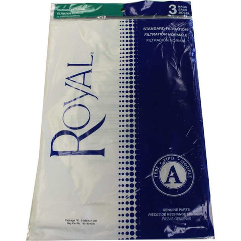 Genuine Royal Type A bags - 3 pack