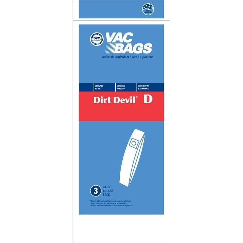 Replacement Dirt Devil Bags 3 Pack - Type D