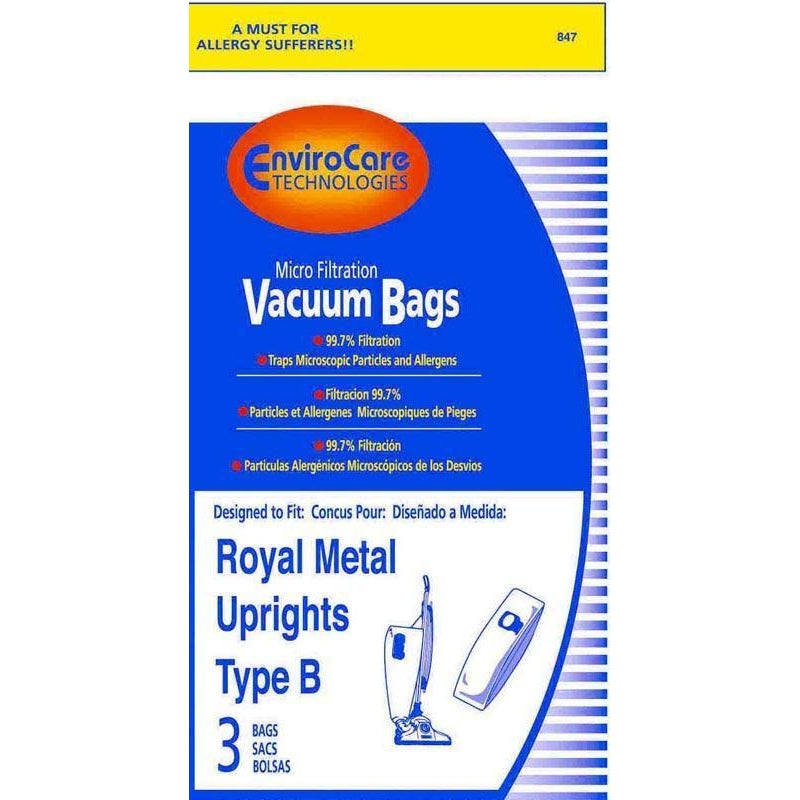 Generic paper bag for Royal Metal Uprights Type B 3 PK - TheVacuumCenter.com
