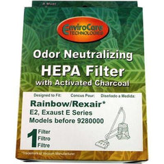 Replacement Rainbow HEPA Neutralizer Filter for 1 speed machine with screw on cover