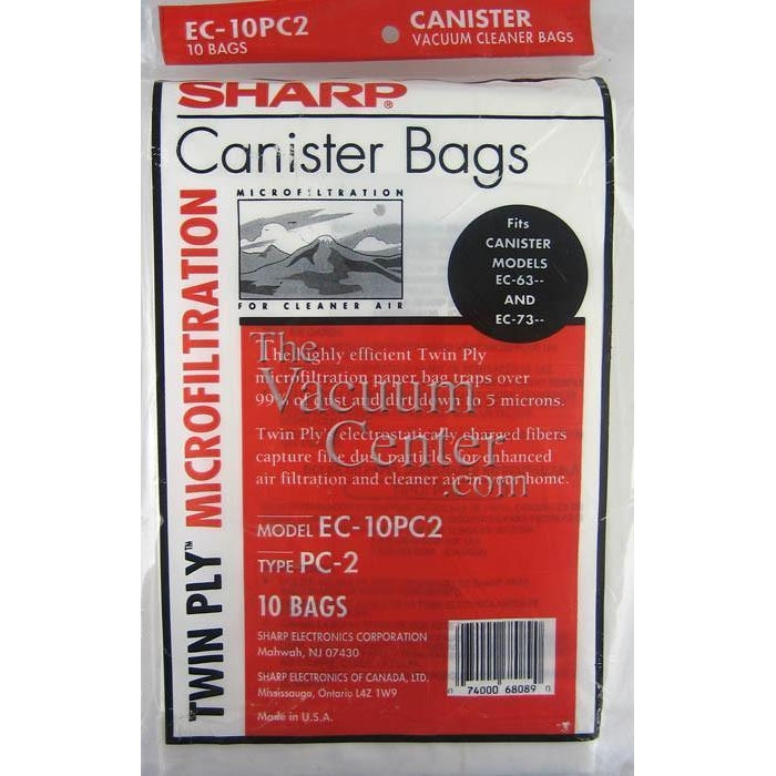 Genuine Sharp 5 Pack Bags for Canister Models 7311 and 6311 - TheVacuumCenter.com