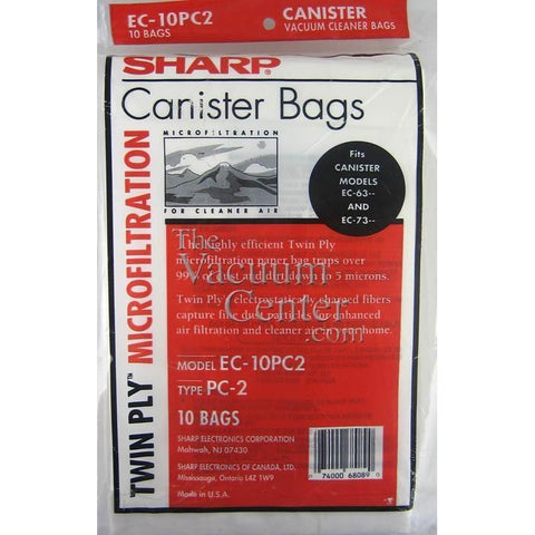 Genuine Sharp 5 Pack Bags for Canister Models 7311 and 6311