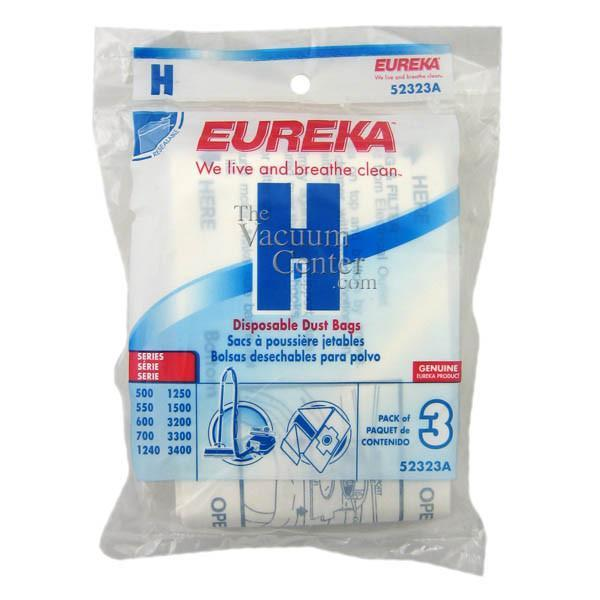 Package of 3 Genuine Eureka Style H Bags - TheVacuumCenter.com