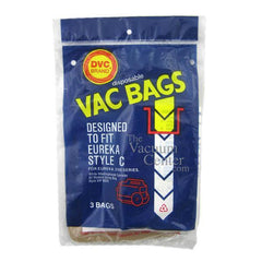 Package of 3 Replacement Eureka Style C Bags - TheVacuumCenter.com