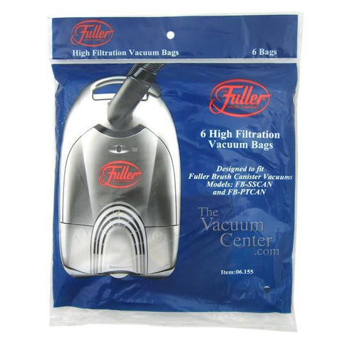Genuine Fuller Brush MircoFresh Bags 6 Pack for Canister Models