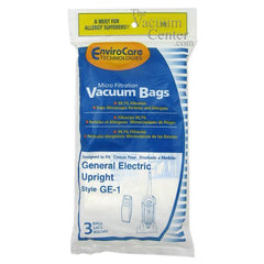 GE Upright Vacuum bags - 3 Pack   Manufacturer Part No.: 155 - TheVacuumCenter.com