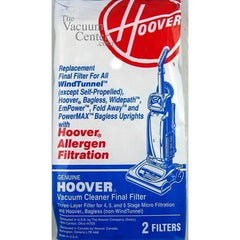 Package of 2 Genuine Hoover Allergen Final Filters - TheVacuumCenter.com