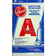 Package of 3 Genuine Hoover Type A Bags