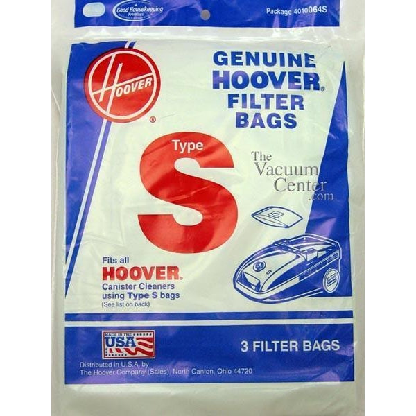 Package of 3 Genuine Hoover Type S Bags