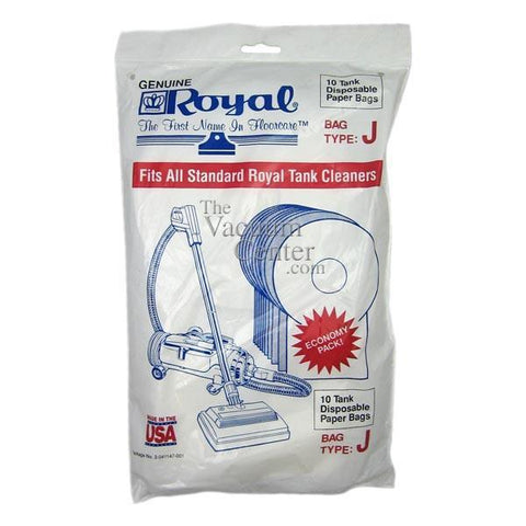 Package of 10 Genuine Royal Type J Pony 401, 666 Bags