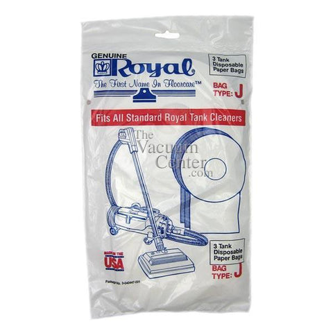 Package of 3 Genuine Royal Type J Pony 401/666 Bags