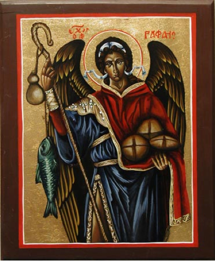 Archangel Raphael with angel message image