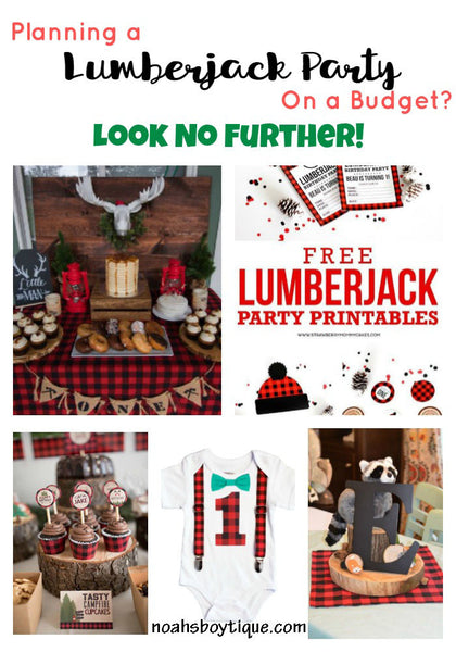 Lumberjack First Birthday Party Outfit and Ideas