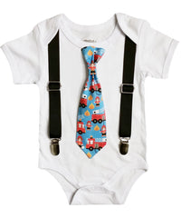 fire truck first birthday outfit fire engine tie firefighter