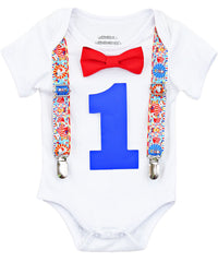 circus first birthday outfit boy big top animals