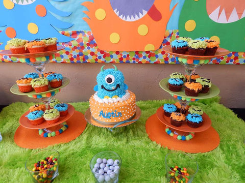 little monster theme party dessert table idea