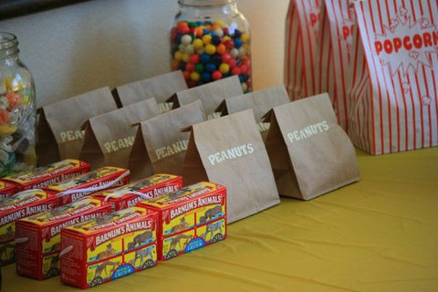 circus party favors first birthday outfit theme ideas
