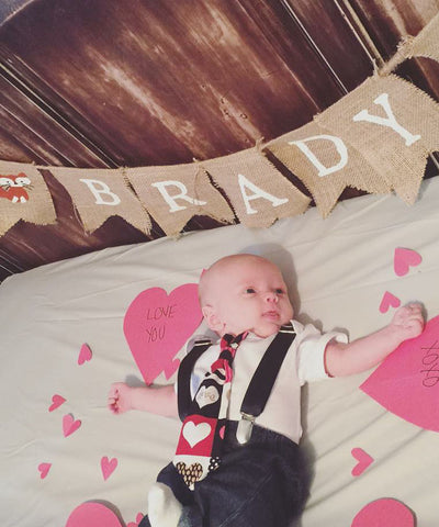 baby boy valentines day outfit photo ideas