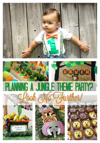 First Birthday Jungle Party Boy Decorations Supplies Cake Smash Photo Session Gift Bags