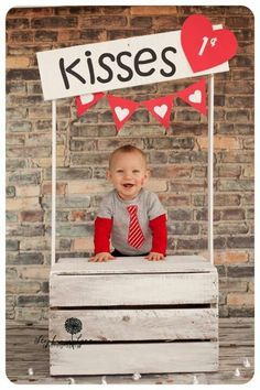 kisses booth valentines day photo session diy pallet baby boy valentines day outfit