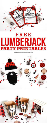 lumberjack party invitations printables diy free