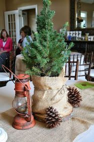 lumberjack first birthday party centerpiece ideas red lantern tree