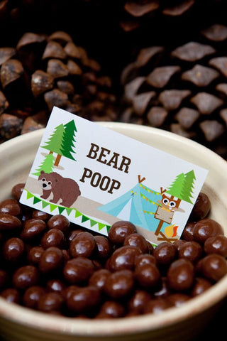 lumberjack party ideas bear poop snacks