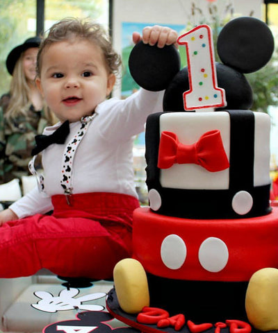Mickey Mouse First Birthday Cake Boy