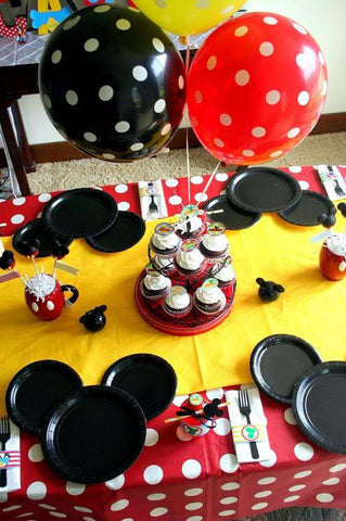 Mickey Mouse Party Decor Ideas Table Decorations