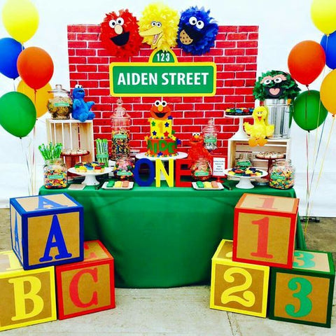 Sesame Street First Birthday Party Boy Decorations Supplies