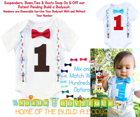 vintage airplane theme first birthday outfit Noah's Boytique