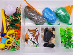 Dinosaur Play Dough Sensory Bin Kit Playdough Box Gift for Boys