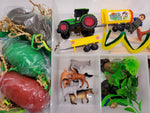 Farm and Farm Animal Play Dough Sensory Bin Kit Playdough Box Gift for Boys