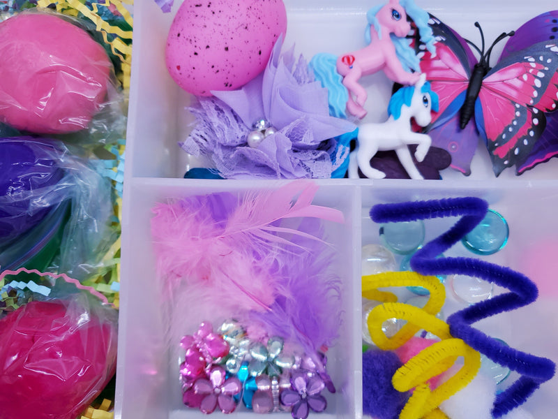 Girls Unicorn Pony Play Dough Kit Desserts Toy Food All Things Girly Sensory Box