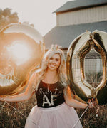 30th Birthday Tank Woman 30 AF 30 th Shirt Black Gold Glitter photo shoot funny gift pink balloons
