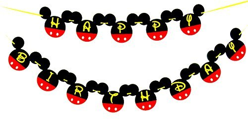 Mickey Mouse 1st Birthday Banner One Birthday Banner Happy