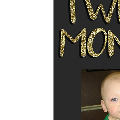Mr ONEderful Birthday Banner Photo Milestone Boy Gold Glitter