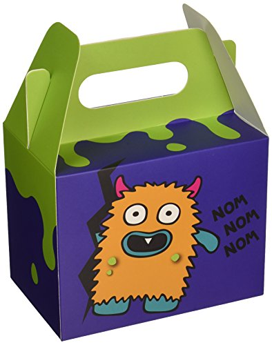 Ginger Ray Monster Madness Kids Party Boxes (5 Pack), Mixed