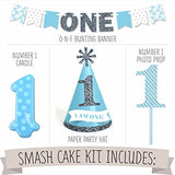 1st Birthday Boy - Smash Cake Kit - High Chair Decorations