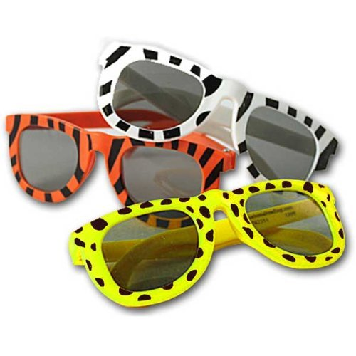 Animal Print Sunglasses Lot of 12 Safari Jungle Party Favors
