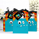 Monster Bash - Little Monster Birthday Party or Baby Shower Party Favor Boxes - Set of 12