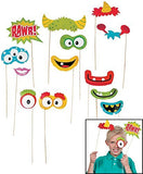Fun Monster Photo Stick Props (12 Pack) 1 1/2-8 1/2