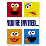Sesame Street Smiles Invitations 8ct