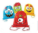 Silly Monster Party drawstring backpacks - Set of 12