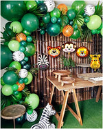 2020 Upgrade Jungle Safari Theme Party Supplies, 102 PCS Balloon Garland Kit, Favors for Kids Boys Birthday Baby Shower Decor, Green Balloons for Parties, Party Birthday Balloons Decorations