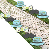 Dashing Little Man Mustache Party - Lawn Decorations - Outdoor Baby Shower or Birthday Party Yard Decorations - 10 Piece